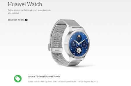 Huawei Watch en oferta en Google Store, ahora con 75 euros de descuento
