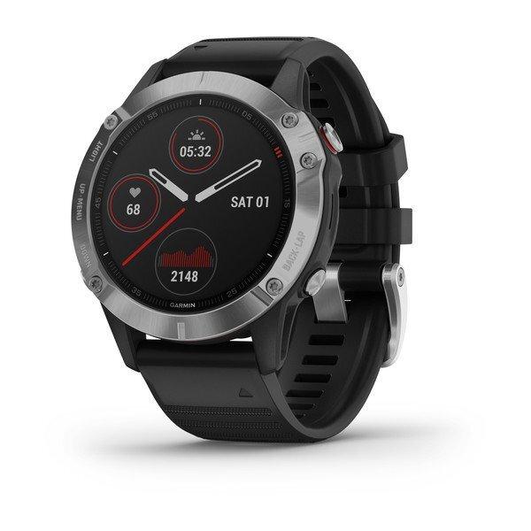 """Garmin Fénix 6 Silver - 1, 3"""", Frec. Cardiaca, GPS, BT , ClimbPro, Sensores ABC, Pulsioxímetro"""