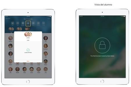 Los iPads de los alumnos pueden ser bloqueados si el profesor lo decide