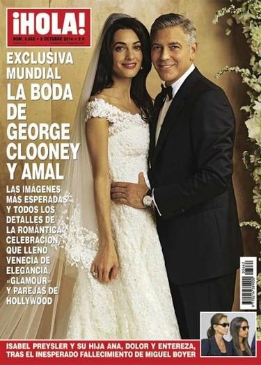 Oscar de la Renta vistió a la novia Amal Alamuddin en su boda con George Clooney
