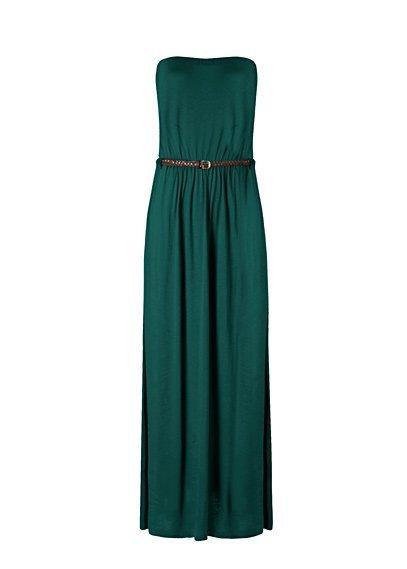 vestido verde largo mango