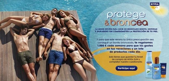 Web Nivea Sun Protege y Broncea