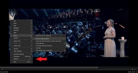Cómo activar la función de estéreo crossfeed en MPC-HC para centrar el escenario sonoro al usar auriculares