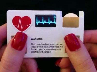 Esta tarjeta de presentación puede medir tu ritmo cardiaco en tiempo real