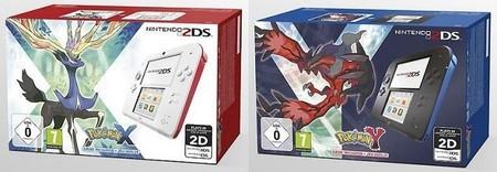 Se venderá en Europa dos paquetes con Nintendo 2DS y Pokémon X o Pokémon Y