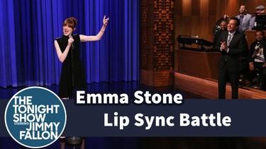 Emma Stone es toda una profesional del playback