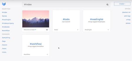 Index es un organizador minimalista para los amantes de los hashtags