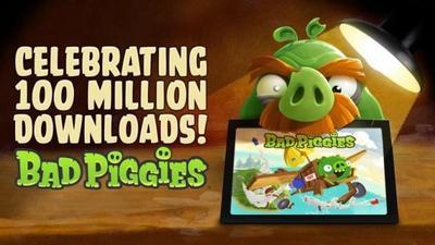 Rovio Bad Piggies alcanza los 100 millones de descargas, recibe actualización de celebración