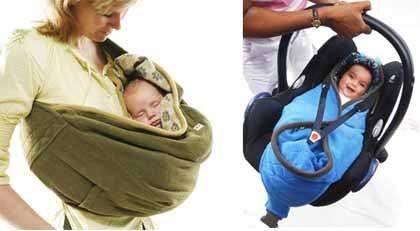 Dos en uno: saco y portabebé calentito