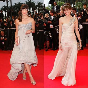 Milla Jovovich y Lou Doillon en la premiere de Palermo Shooting en Cannes
