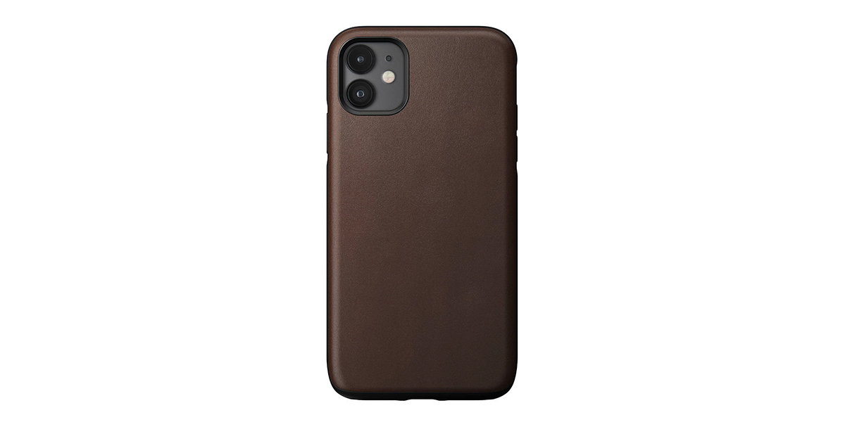 Nomad Rugged Funda Piel iPhone 11 Marrón