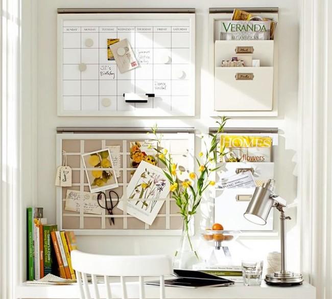 Home Office Organization Ideas 667x600