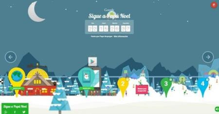 Sigue a Papá Noel, el portal de minijuegos y experiencias navideñas de Google