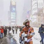 La insólita estampa de Times Square tras la gran nevada de Nueva York