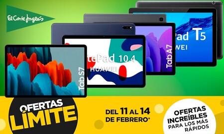 17 modelos de tablets de Samsung, Huawei y Lenovo que puedes comprar más baratas en las ofertas Límite 48 Horas de El Corte Inglés