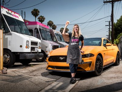 Orange Fury Ice Cream Sandwich, un delicioso postre inspirado en el Ford Mustang