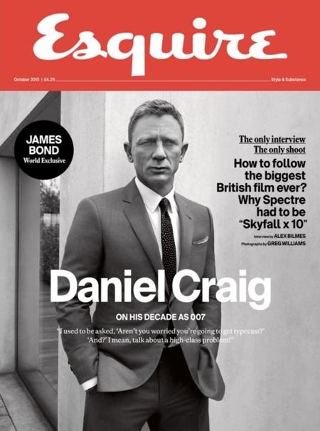 Daniel Craig, fotos para Esquire (septiembre 2015)