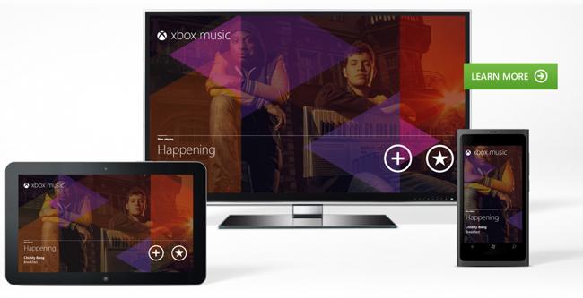 Xbox music sistema