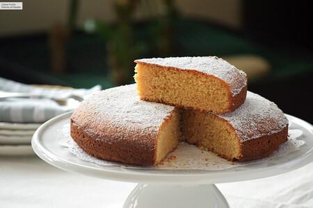 Torta Ortigara o bizcocho italiano de almendra y limón