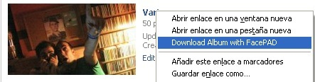 Descarga álbumes de fotos en Facebook con Facebook Photo Album Downloader