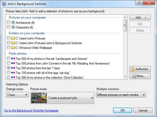 JBS, flickr, Picasa y tus fotos en tu fondo de escritorio