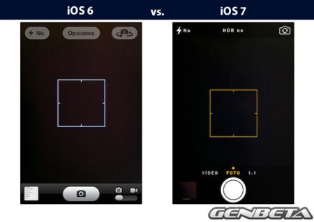 iOs 6 vs iOs 7 - cámara