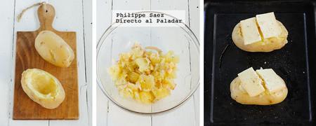 Papa Horno Raclette Receta
