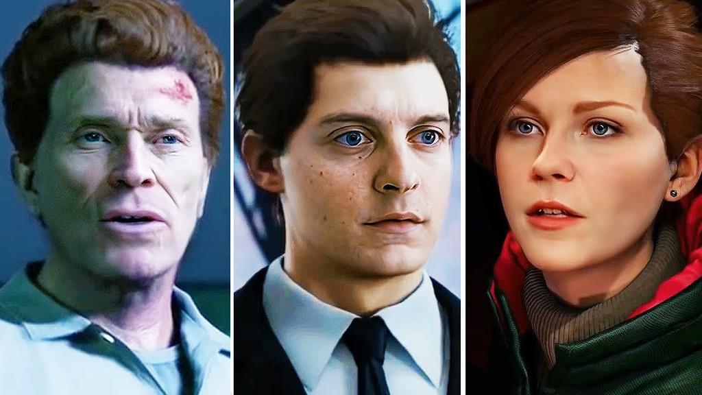 Así se vería Marvel's Spider-Man con las caras de Tobey Maguire, Willem Dafoe y Kirsten Dunst de la trilogía de Spider-Man