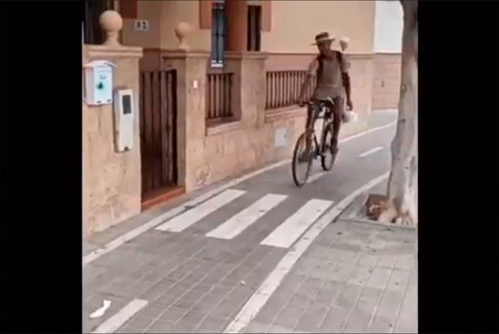 Carril bici pegado a una casa en Almería: la solución, un paso de cebra