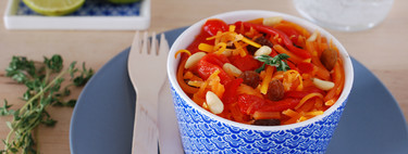 Ensalada de zanahoria rallada y piquillos: receta ligera, fácil y rápida