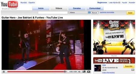 Youtube en formato panorámico
