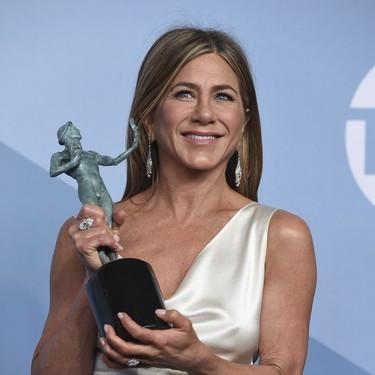 Ni los vestidos de la alfombra roja, ni los premios, el momentazo de los SAG Awards 2020 lo protagonizaron Jennifer Aniston y Brad Pitt juntos