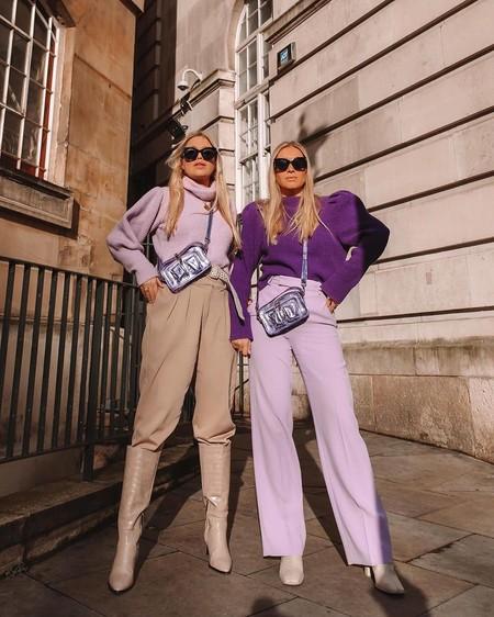 El color lavanda triunfa en el street style y estas prendas son ideales para sumarnos a la tendencia clave de esta primavera
