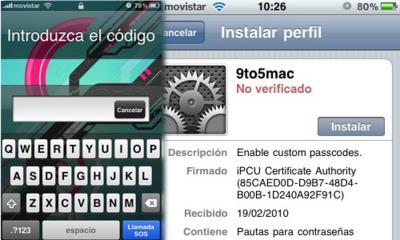 Añade códigos alfanuméricos a la contraseña del iPhone