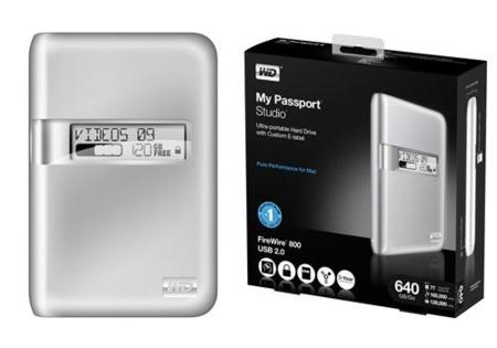 My Passport Studio, nuevo disco Firewire 800 y USB 2.0 para Mac