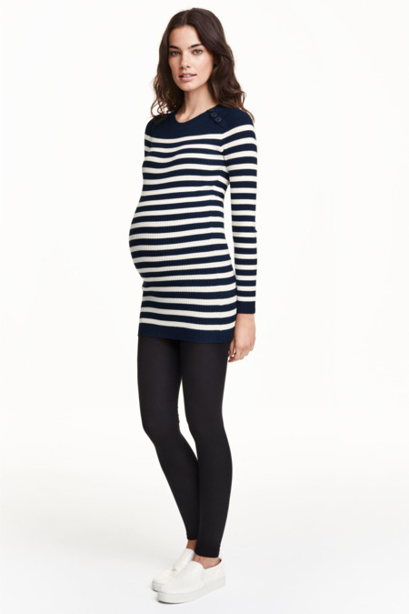 Look Leggings Con Jersey Rayas Premama