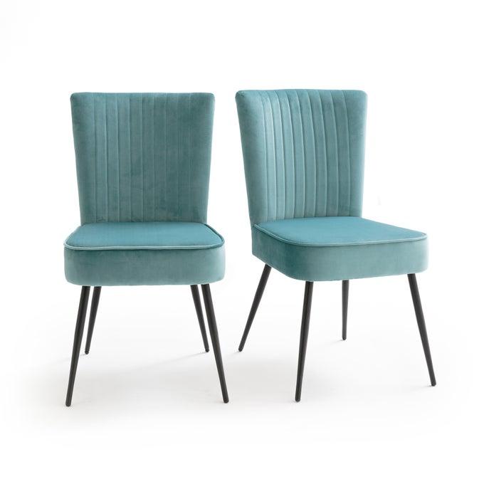 Set de dos sillas de terciopelo