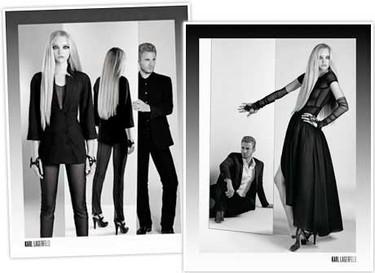 Gemma Ward en la nueva campaña de Karl Lagerfeld
