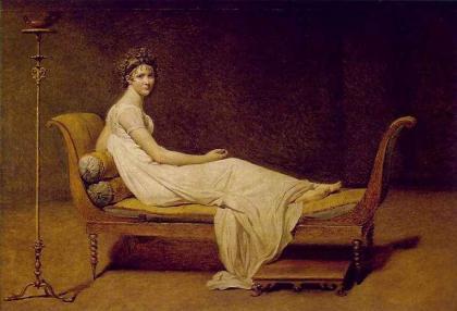 Madame Recamier.Jacques-Louis David, 1800