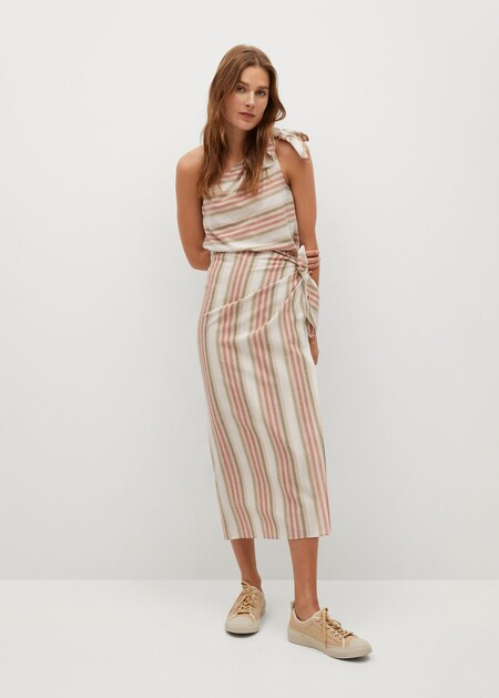 falda lino
