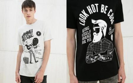 Camisetas Bershka Trendencias Hombre 2016 3