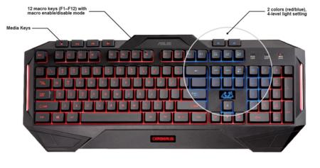 Asus Cerberus Keyboard Membrana