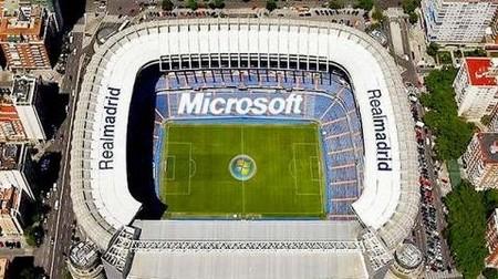 Estadio Santiago Bernabeu Microsoft