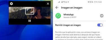 WhatsApp beta mejora el modo PiP: puedes ver vídeos de YouTube en ventana flotante mientras usas otras apps