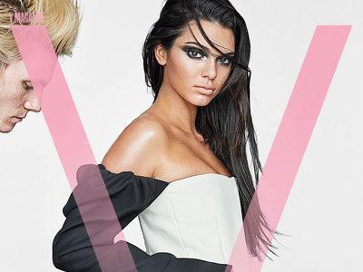 Kendall Jenner posa (casi) desnuda para V Magazine y una serpiente es la única que decora su trasero