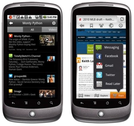 Skyfire 2.0 para Android, overbooking de navegadores web