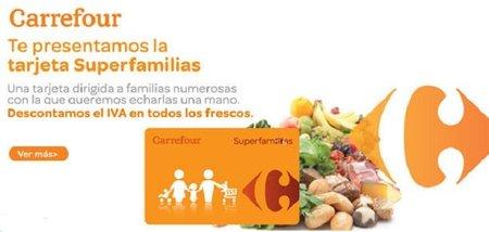 Carrefour presenta la tarjeta 'Superfamilias'
