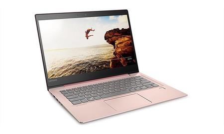 También en rosa, tenemos en las ofertas de primavera de Amazon el Lenovo Ideapad 520S-14IKB con procesador i3, hoy por 479 euros