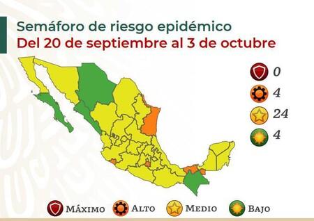 Casi Todo Mexico Queda En Amarillo Por El Semaforo Covid Tres Cuartas Partes Del Pais Ya Estan En Nivel Medio De Riesgo