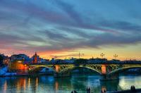 Panorámica de Sevilla sobre el Guadalquivir